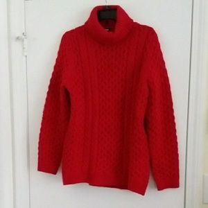 Lands' End sweater, dark red, L